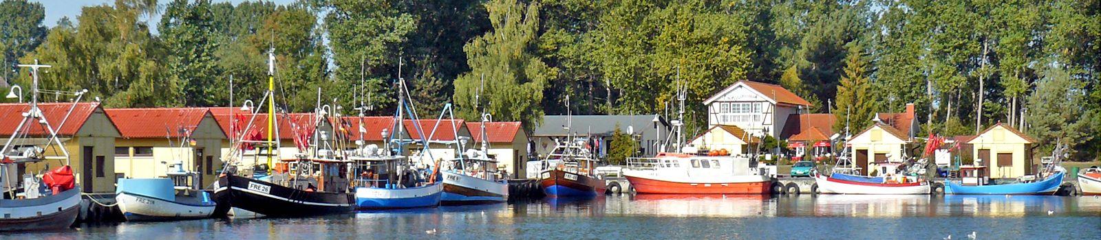 Fischereihafen in Freest